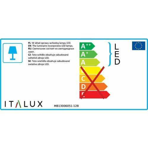 Kinkiet Italux Holly MB13006051-12B lampa oprawa ścienna 12x1W LED biały (5900644401704)