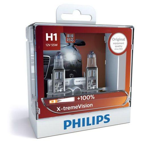 Philips® X-tremeVision H1 | Halogenowa Żarówka Samochodowa, 12258XVS2