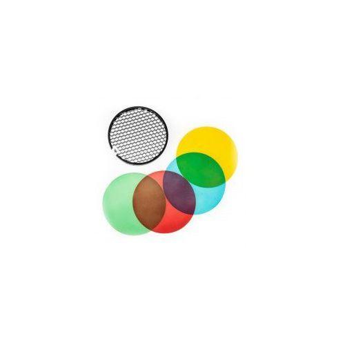 Zestaw filtrów żelowych z plastrem miodu Quadralite Reporter - produkt z kategorii- Lampy błyskowe