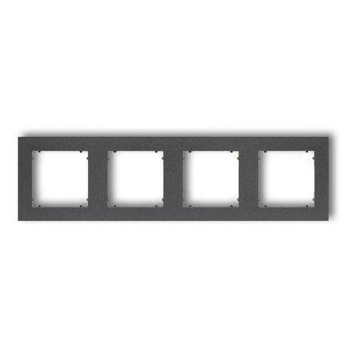 Ramka poczwórna Karlik Mini 11MR-4 grafitowa