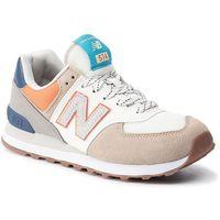 Sneakersy - ml574nft beżowy niebieski, New balance, 40-46.5