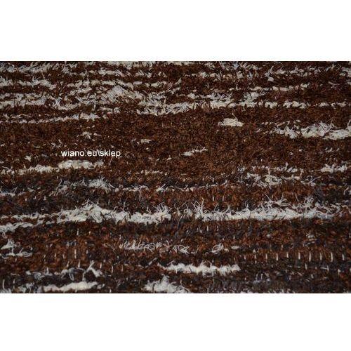 Twórczyni ludowa Chodnik bawełniany, ręcznie tkany, brązowo-ecru 80x140