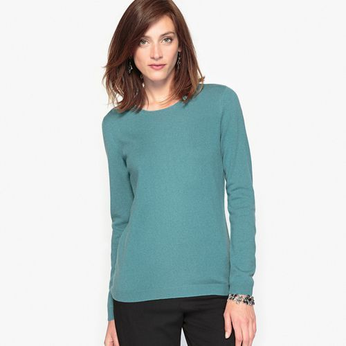 Sweter z okrągłym dekoltem z czystego kaszmiru