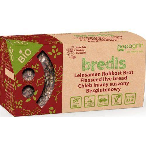 Papagrin (przekąski raw) Chleb lniany suszony o smaku buraków bezglutenowy bio 70 g - papagrin (5903240250189)