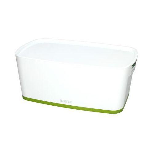 Esselte Pojemnik mały z pokrywką biało/zielony mybox leitz