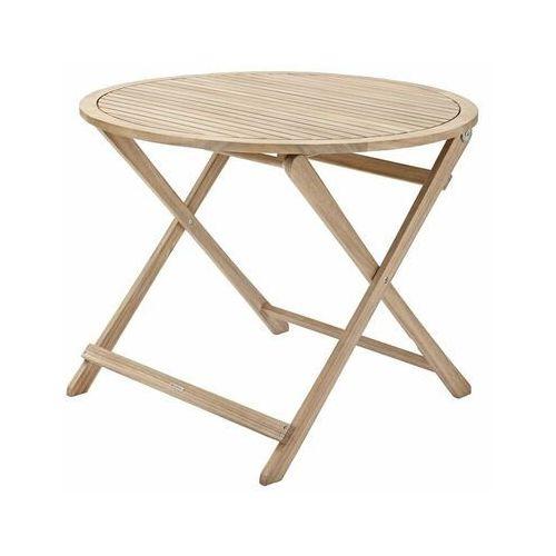 Stół ogrodowy solis 90 cm drewniany marki Naterial
