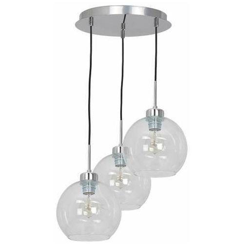 Luminex Fill 1741 lampa wisząca zwis 3x60W E27 srebrna/transparentna (5907565917413)