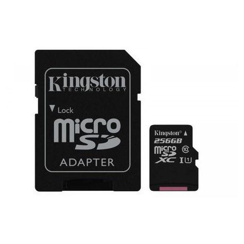 microsd 256gb canvas select 80/10mb/s + adapter sd (sdcs/256gb) >> bogata oferta - szybka wysyłka - promocje - darmowy transport od 99 zł! marki Kingston