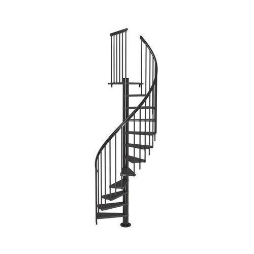Dolle Schody spiralne calgary z dodatkowymi tralkami 120 cm antracyt (5907222465455)