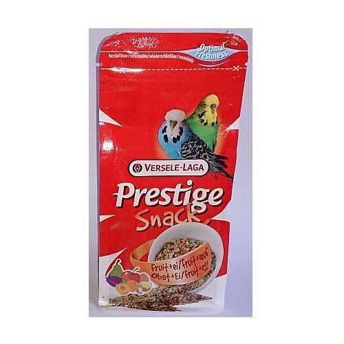 Versele-laga  prestige snack budgies 125g przysmak z biszkoptami i owocami dla papużek falistych