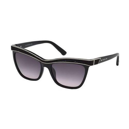 Okulary Słoneczne Swarovski SK 0075 01B, kolor żółty