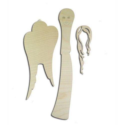 Drewniany anioł do zdobienia - 28,5x8,5 cm - A28