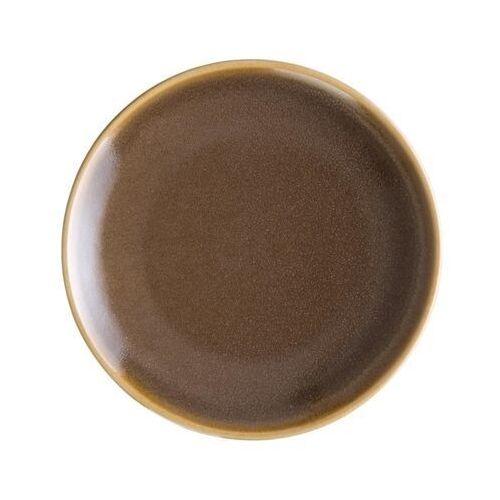 Olympia Okrągłe talerze w kolorze ciemnobrązowym 178mm kiln (zestaw 6 sztuk)