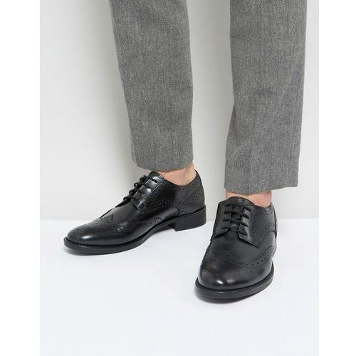 brogues in black leather - black marki Frank wright