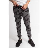 Spodnie dresowe męskie spmd005z - ciemny szary melanż marki 4f