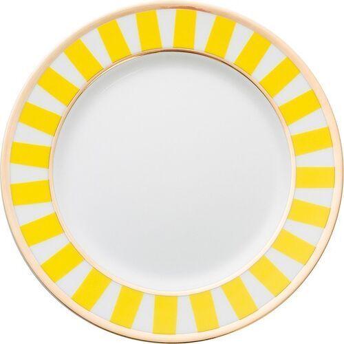 Talerzyki deserowe stripes żółte 6 szt. marki La mania home