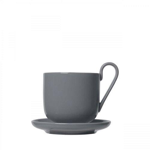 Zestaw 2 kubków do kawy z podstawkami ro, sharkski marki Blomus