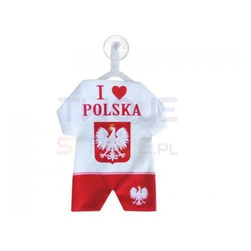 Twojestroje.pl Zawieszka samochodowa kibica ubranko biało-czerwone (5902388524008)