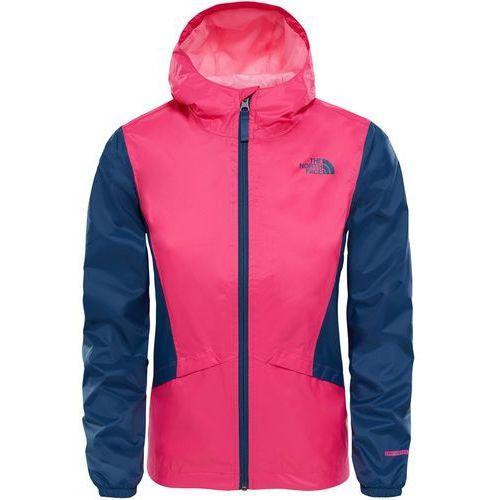 kurtka dziewczęca g zipline rain jacket petticoat pink/blue wing teal s marki The north face - OKAZJE