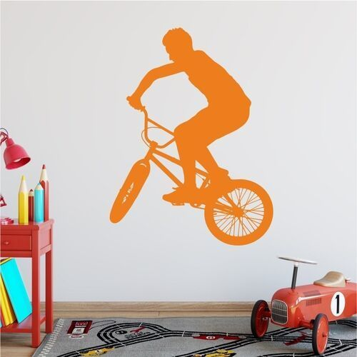 Wally - piękno dekoracji Naklejka na ścianę rower. bmx 2321