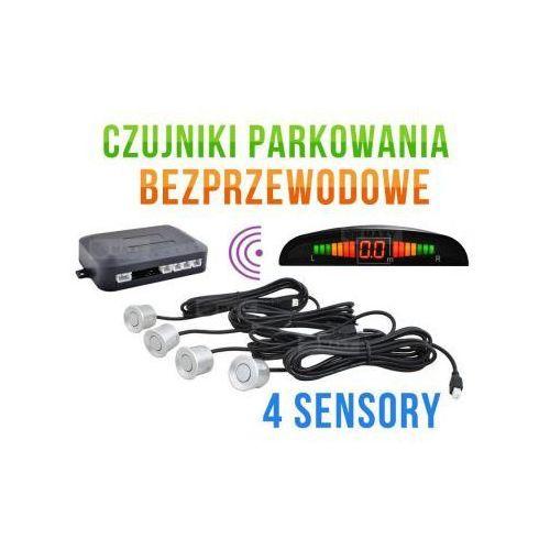 Bezprzewodowe Czujniki Parkowania (4-sensory + sygnalizator) - SREBRNE., 59087382621472