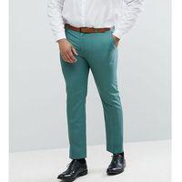 ASOS PLUS Wedding Slim Suit Trousers In Pine Green 100% Wool - Green