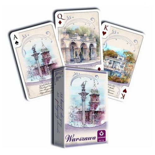 Karty do gry CARTAMUNDI Akwarele Warszawa 55 listków, AM_5901911001665