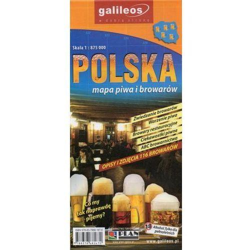 Polska - mapa piwa i browarów, 1:875 000, Lider Serwis - OKAZJE