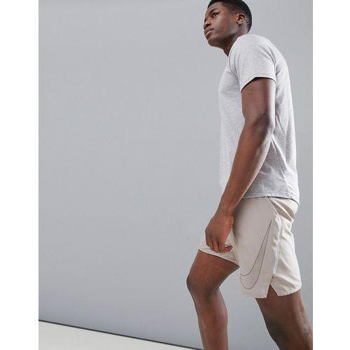 Nike running flex distance flash reflective 7 inch shorts in stone 899498-206 - stone