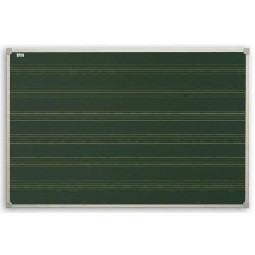 Tablica kredowa 2x3 z nadrukiem pięciolinii magnetyczna lakierowana 170x100cm, TKU1710P