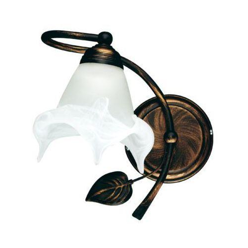 Lampex bluszcz k 090/k c+m kinkiet lampa ścienna 1x60w e27 czarny / miedź