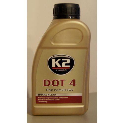 Płyn hamulcowy K2 DOT4 0,5 litra Odbiór osobisty KRAKÓW lub wysyłka od 5.80zł (przy zakupie min 12 sztuk cena 4.55zł netto)