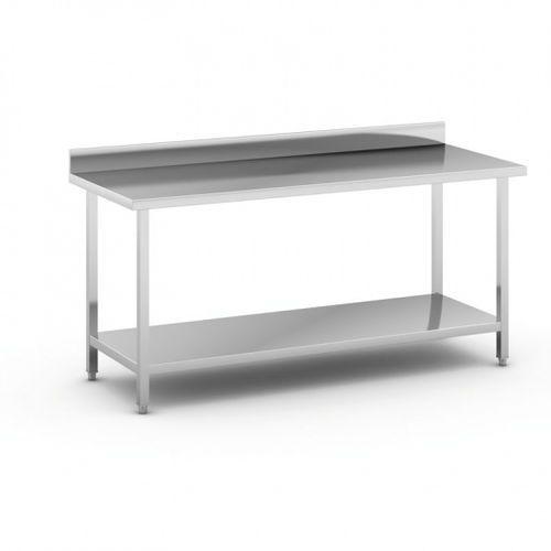 Stół roboczy ze stali nierdzewnej z półką, 1800 x 700 x 850 mm marki B2b partner
