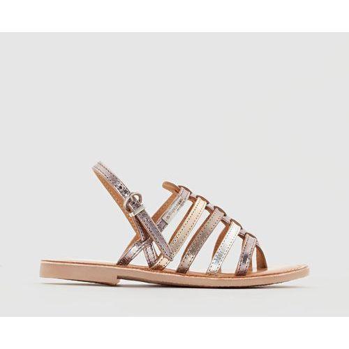 Płaskie, skórzane sandały LES TROPEZIENNES, Hérisson