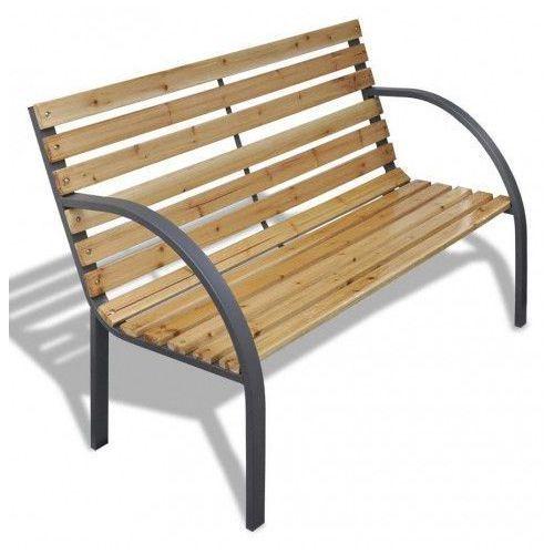 Producent: elior Drewniana ławka ogrodowa gasper - brązowa
