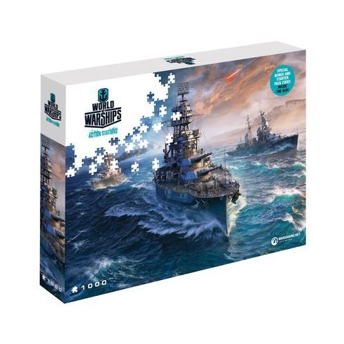 Puzzle world of warships gotowi do walki 1000 elementów. wargaming ready to fight - merlin publishing darmowa dostawa kiosk ruchu marki Cdp.pl software