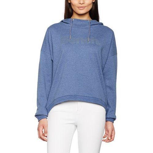 Bench Bluza z kapturem current dla kobiet, kolor: niebieski, rozmiar: medium
