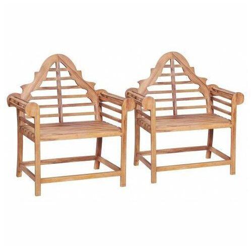 Zestaw drewnianych krzeseł ogrodowych Niclos - brązowy