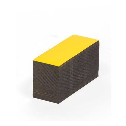 Magnetyczna tablica magazynowa, żółte, wys. x szer. 50x80 mm, opak. 100 szt. Zap