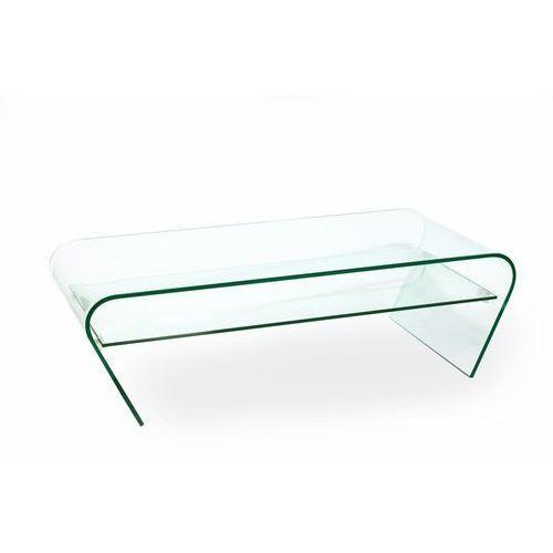 Stolik szklany CASA VIOLINO z półką - szkło transparent, półka transparentna, K-005.POLKA. (7812559)