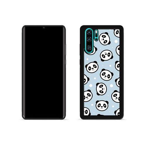 Huawei P30 Pro - etui na telefon Aluminum Fantastic - panda na niebieskim tle