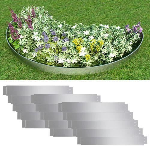 zestaw 15 elastycznych obrzeży ogrodowych, stalowych, 100 x cm marki Vidaxl