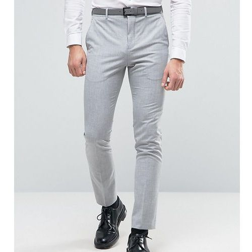 Selected homme  super skinny suit trousers in pale grey - grey