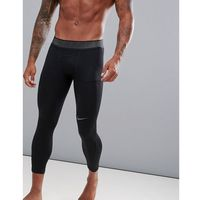 Nike training pro hypercool 3/4 tights in black 888297-011 - black