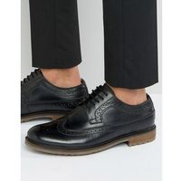 Silver street fenchurch brogues in black leather - black