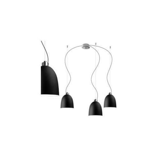 LAMPA wisząca AWA 3/S/BLACK MATTE/OPAL Sotto Luce szklana OPRAWA zwieszana czarna matowa, AWA 3/S/BLACK MATTE/OPAL
