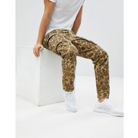 beraw rovic 3d tapered cargo camo trousers - brown marki G-star