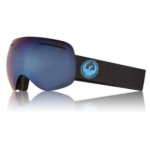 Gogle snowboardowe - x1 three split/blueion+amber (334) rozmiar: os marki Dragon