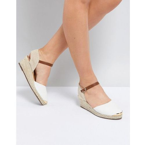 Miss KG Wedge Espadrille With Ankle Strap - White