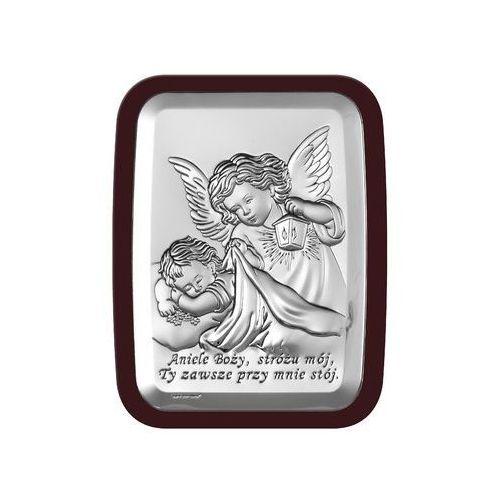 Obrazek aniol stróż w ciemnej oprawie - (bc#6441wm) marki Beltrami